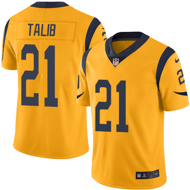 Nike Rams #21 Aqib Talib Gold Youth Stitched NFL Limited Rush Jersey