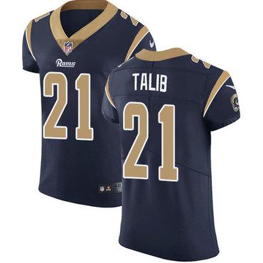 Nike Rams #21 Aqib Talib Navy Blue Team Color Men's Stitched NFL Vapor Untouchable Elite Jersey