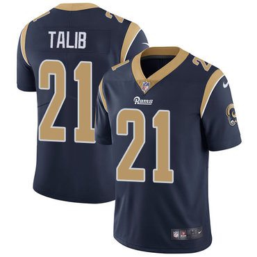 Nike Rams #21 Aqib Talib Navy Blue Team Color Youth Stitched NFL Vapor Untouchable Limited Jersey