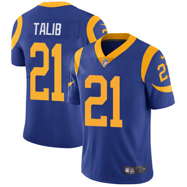Nike Rams #21 Aqib Talib Royal Blue Alternate Youth Stitched NFL Vapor Untouchable Limited Jersey