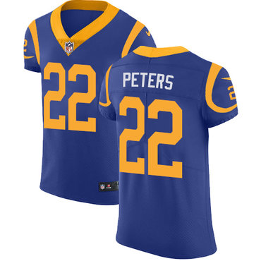 Nike Rams #22 Marcus Peters Royal Blue Alternate Men's Stitched NFL Vapor Untouchable Elite Jersey