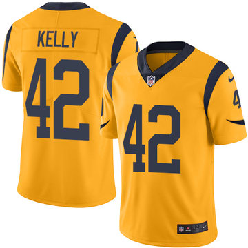Nike Rams #42 John Kelly Gold Men's Stitched NFL Limited Rush Jersey