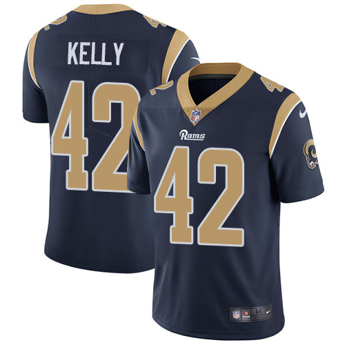 Nike Rams #42 John Kelly Navy Blue Team Color Men's Stitched NFL Vapor Untouchable Limited Jersey