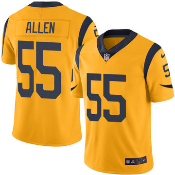 Nike Rams #55 Brian Allen Gold Men's Stitched NFL Limited Rush Jersey
