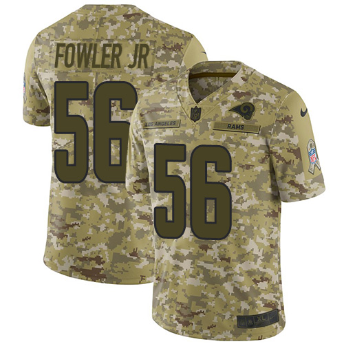 Nike Rams #56 Dante Fowler Jr Camo Men's Stitched NFL Limited 2018 Salute To Service Jersey