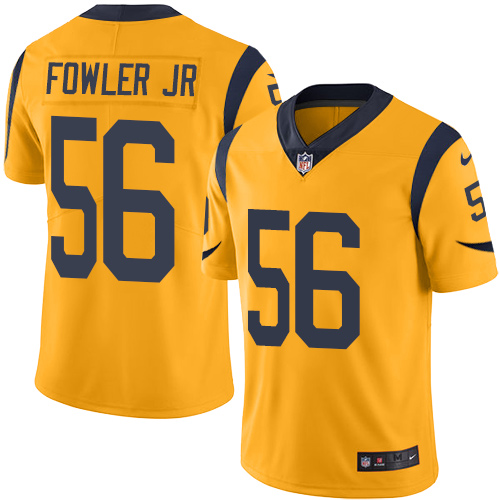 Nike Rams #56 Dante Fowler Jr Gold Men's Stitched NFL Limited Rush Jersey
