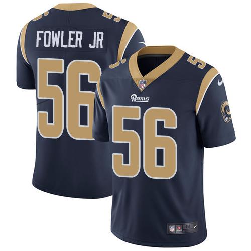 Nike Rams #56 Dante Fowler Jr Navy Blue Team Color Men's Stitched NFL Vapor Untouchable Limited Jersey