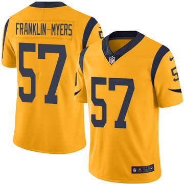 Nike Rams #57 John Franklin-Myers Gold Men's Stitched NFL Limited Rush Jersey