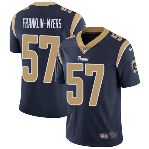Nike Rams #57 John Franklin-Myers Navy Blue Team Color Men's Stitched NFL Vapor Untouchable Limited Jersey