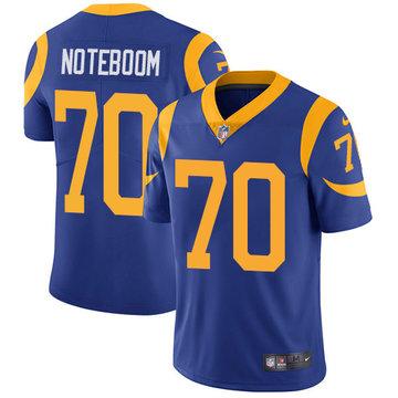 Nike Rams #70 Joseph Noteboom Royal Blue Alternate Men's Stitched NFL Vapor Untouchable Limited Jersey