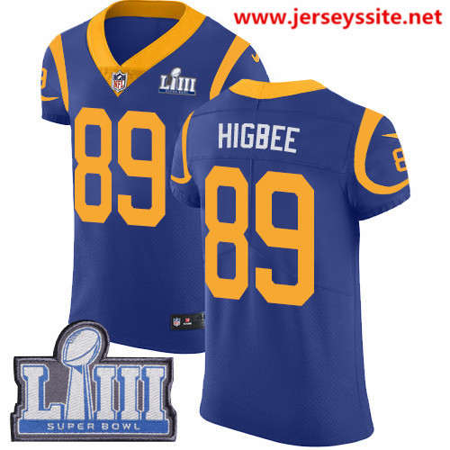 Nike Rams #89 Tyler Higbee Royal Blue Alternate Super Bowl LIII Bound Men's Stitched NFL Vapor Untouchable Elite Jersey