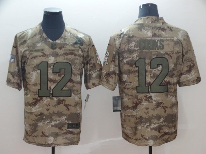 Nike Rams 12 Brandin Cooks Camo Salute To Service Limited Jersey