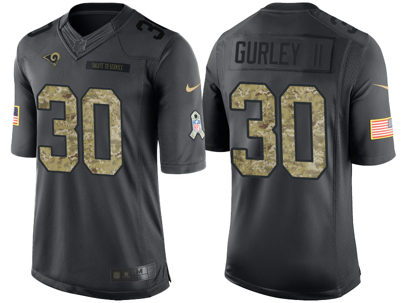 Nike Rams 30 Todd Gurley II Anthracite Salute To Service Limited Jersey