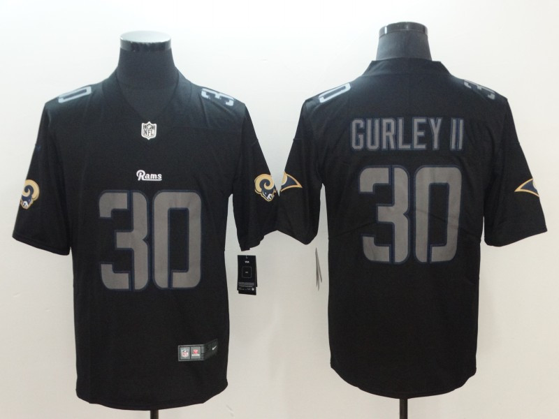 Nike Rams 30 Todd Gurley II Black Vapor Impact Limited Jersey