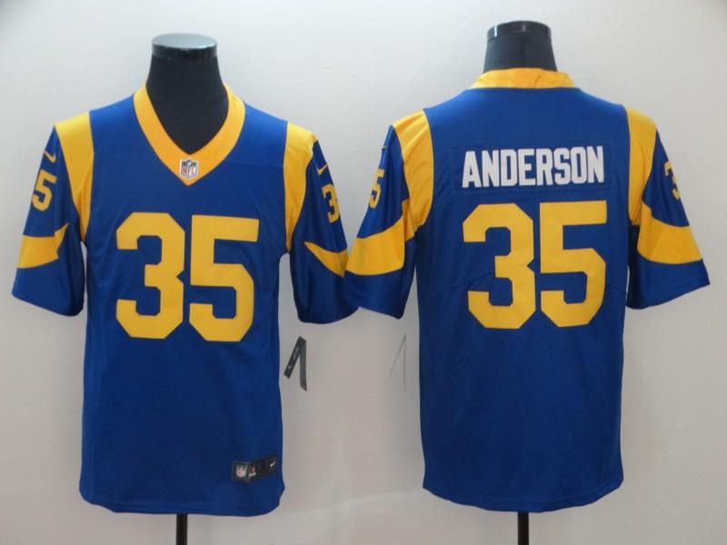 Nike Rams 35 C. J. Anderson Royal Vapor Untouchable Limited Jersey