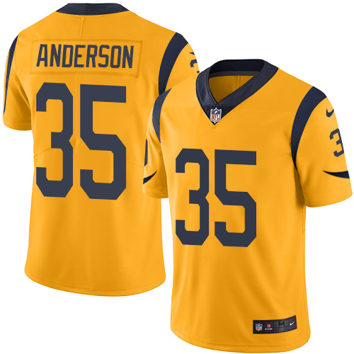 Nike Rams 35 C.J. Anderson Gold Color Rush Limited Jersey