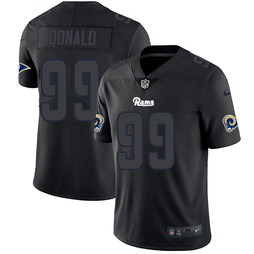 Nike Rams 99 Aaron Donald Black Impact Rush Limited Jersey