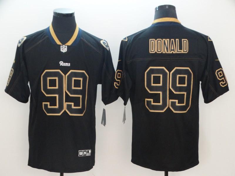 Nike Rams 99 Aaron Donald Black Shadow Legend Limited Jersey