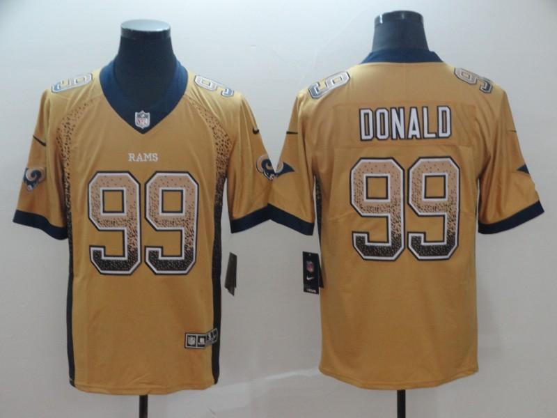 Nike Rams 99 Aaron Donald Gold Drift Fashion Limited Jersey