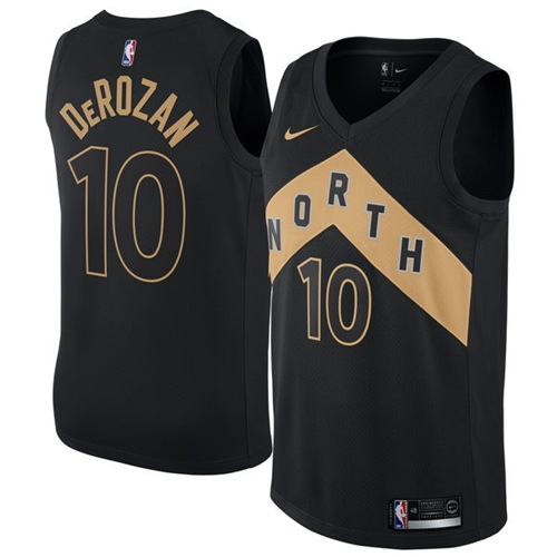 Nike Raptors #10 DeMar DeRozan Black NBA Swingman City Edition Jersey