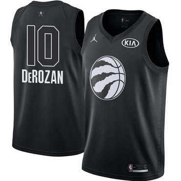 Nike Raptors #10 DeMar DeRozan Black Youth NBA Jordan Swingman 2018 All-Star Game Jersey