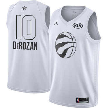 Nike Raptors #10 DeMar DeRozan White Youth NBA Jordan Swingman 2018 All-Star Game Jersey