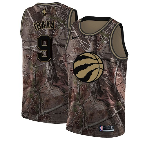 Nike Raptors #9 Serge Ibaka Camo Women's NBA Swingman Realtree Collection Jersey