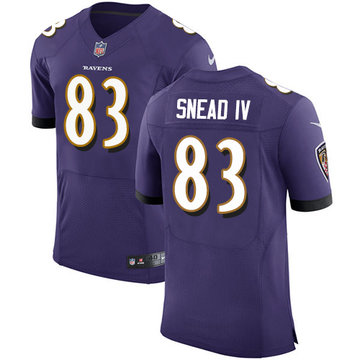 Nike Ravens #83 Willie Snead IV Purple Team Color Men's Stitched NFL Elite Jersey