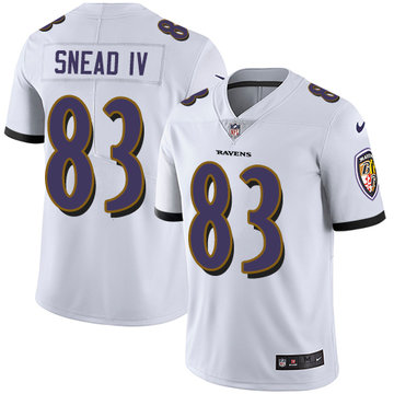 Nike Ravens #83 Willie Snead IV White Men's Stitched NFL Vapor Untouchable Limited Jersey