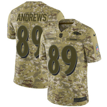 Nike Ravens #89 Mark Andrews Camo Men's Stitched NFL Limited 2018 Salute To Service Jersey