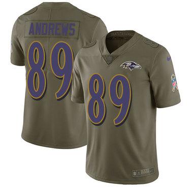 Nike Ravens #89 Mark Andrews Olive Men's Stitched NFL Limited 2017 Salute To Service Jersey