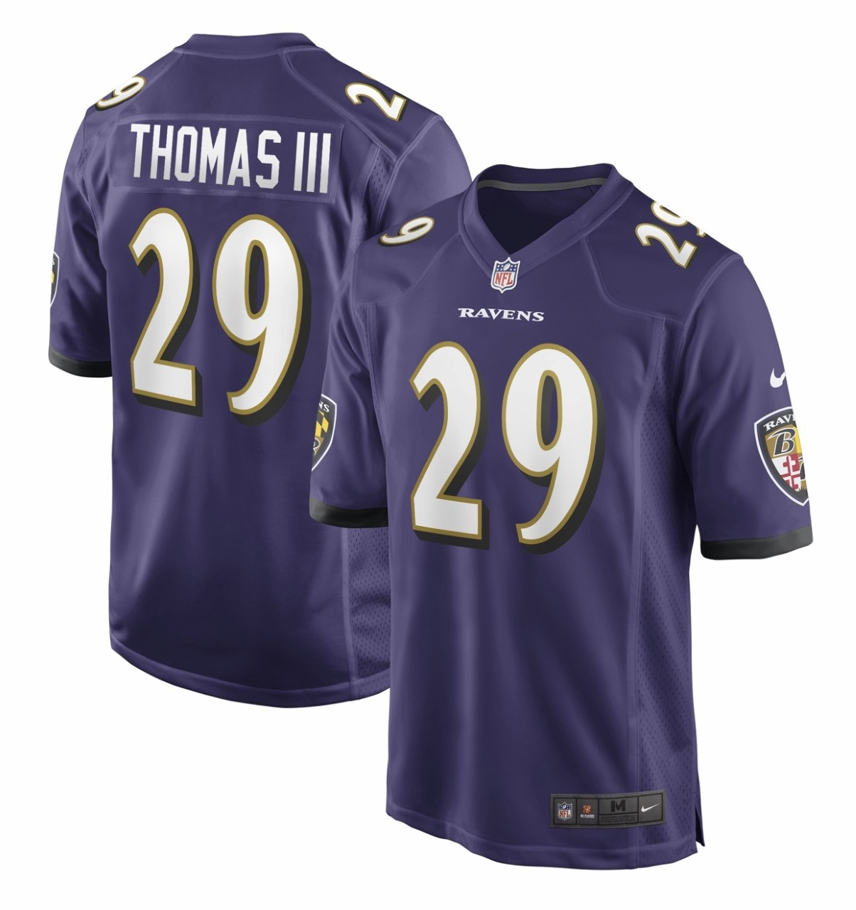 Nike Ravens 29 Earl Thomas III Purple Vapor Untouchable Limited Jersey