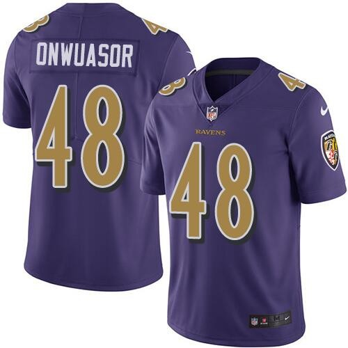Nike Ravens 48 Patrick Onwuasor Purple Vapor Untouchable Color Rush Limited Jersey