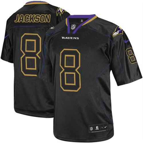 Nike Ravens 8 Lamar Jackson Black Shadow Legend Limited Jersey
