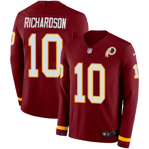 Nike Redskins #10 Paul Richardson Burgundy Red Team Color Men's Stitched NFL Limited Therma Long Sleeve Jersey