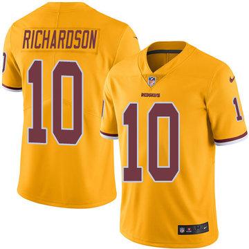 Nike Redskins #10 Paul Richardson Gold Men's Stitched NFL Limited Rush Jersey