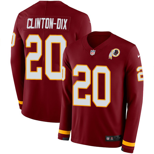 Nike Redskins #20 Ha Ha Clinton-Dix Burgundy Red Team Color Men's Stitched NFL Limited Therma Long Sleeve Jersey