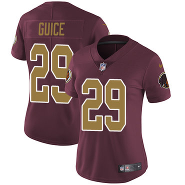 Nike Redskins #29 Derrius Guice Burgundy Red Alternate Women's Stitched NFL Vapor Untouchable Limited Jersey