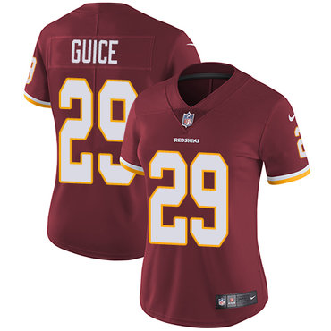 Nike Redskins #29 Derrius Guice Burgundy Red Team Color Women's Stitched NFL Vapor Untouchable Limited Jersey