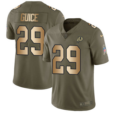 Nike Redskins #29 Derrius Guice Olive Gold Youth Stitched NFL Limited 2017 Salute to Service Jersey