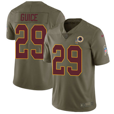 Nike Redskins #29 Derrius Guice Olive Youth Stitched NFL Limited 2017 Salute to Service Jersey