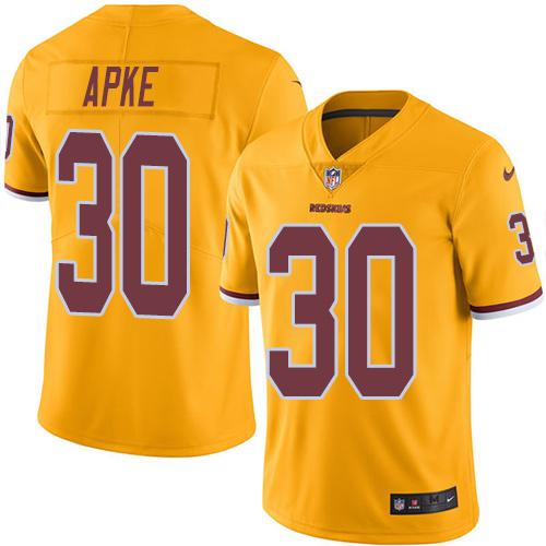 Nike Redskins #30 Troy Apke Gold Men's Stitched NFL Limited Rush Jersey