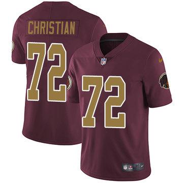 Nike Redskins #72 Geron Christian Burgundy Red Alternate Men's Stitched NFL Vapor Untouchable Limited Jersey