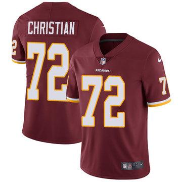 Nike Redskins #72 Geron Christian Burgundy Red Team Color Men's Stitched NFL Vapor Untouchable Limited Jersey
