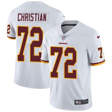 Nike Redskins #72 Geron Christian White Men's Stitched NFL Vapor Untouchable Limited Jersey