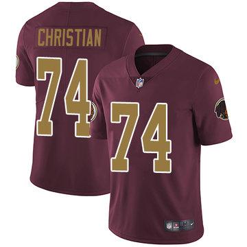 Nike Redskins #74 Geron Christian Burgundy Red Alternate Men's Stitched NFL Vapor Untouchable Limited Jersey