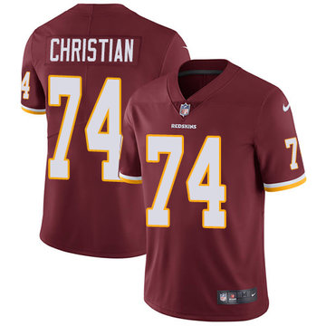 Nike Redskins #74 Geron Christian Burgundy Red Team Color Men's Stitched NFL Vapor Untouchable Limited Jersey