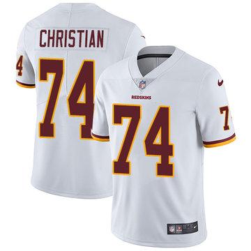 Nike Redskins #74 Geron Christian White Men's Stitched NFL Vapor Untouchable Limited Jersey