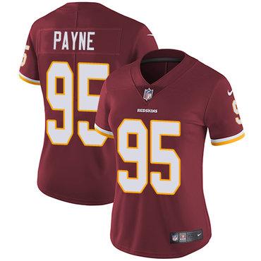 Nike Redskins #95 Da'Ron Payne Burgundy Red Team Color Women's Stitched NFL Vapor Untouchable Limited Jersey