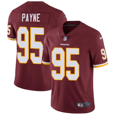 Nike Redskins #95 Da'Ron Payne Burgundy Red Team Color Youth Stitched NFL Vapor Untouchable Limited Jersey